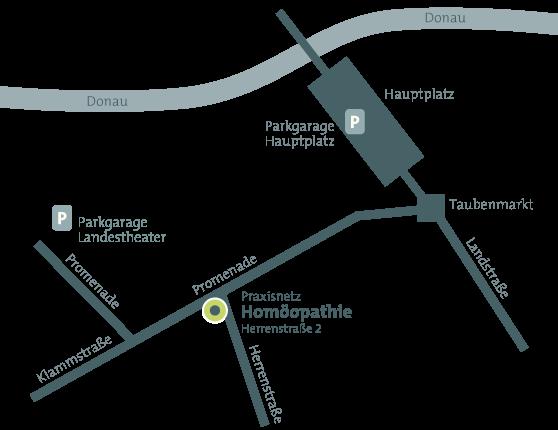 Wegbeschreibung Praxisnetz Homöopathie Herrenstraße 2 4020 Linz